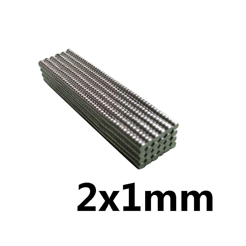 100 pcs 500 pces 2x1mm ímã redondo pequeno 2*1mm neodímio magnético poderoso 2x1mm permanente ndfeb forte ímã 2*1 mini ímã de disco