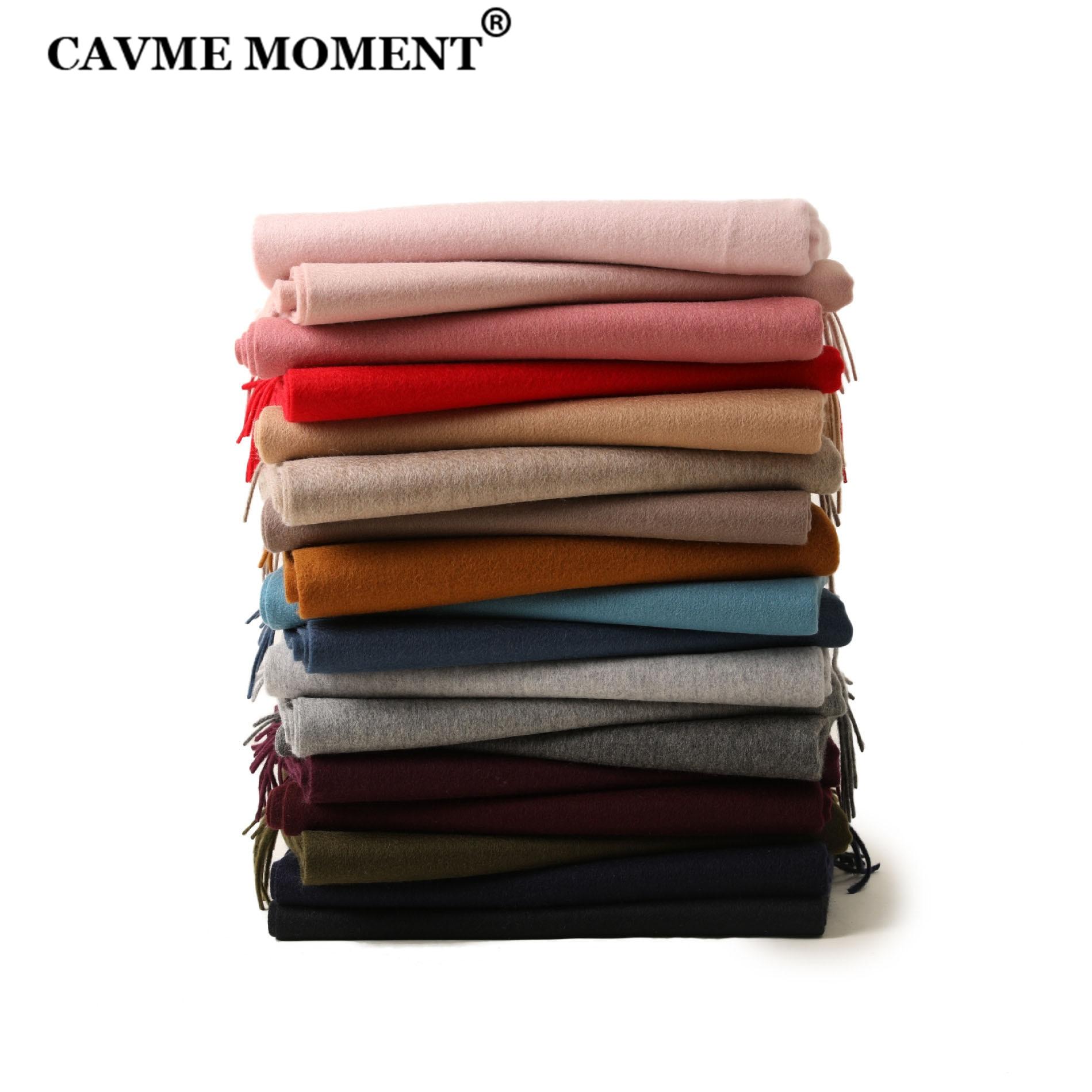 CAVME وشاح من الصوف الخالص للجنسين الباشمينا الأساسية الأوشحة الطويلة بلون شالات 70*180 سنتيمتر هدية لعيد الميلاد خطابات مخصصة