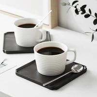 japanese ceramic coffee cup dish creative white simple coffee cup cabkino coffee cup ceramic coffee cup set