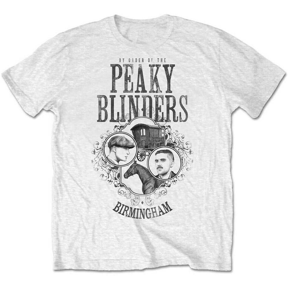 Peaky Blinders caballo carro T Mens camisa Unisex camiseta licencia mercancía de marca ropa camiseta