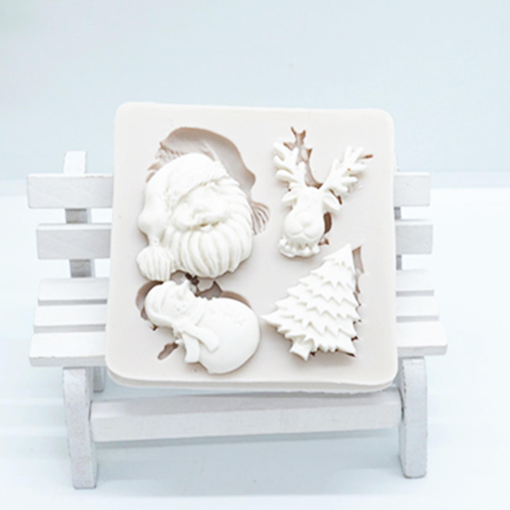 Luyou Санта-Клаус, снег, носки, инструменты для торта силиконовые резиновые формы кухня Выпечка DIY аксессуары, инструменты для украшения торта ...