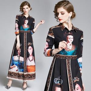 European American Fashion Long Sleeve Shirt Dress Black Birthday Dress for Women Ruched Korean Gothic Maxi Dress England Style