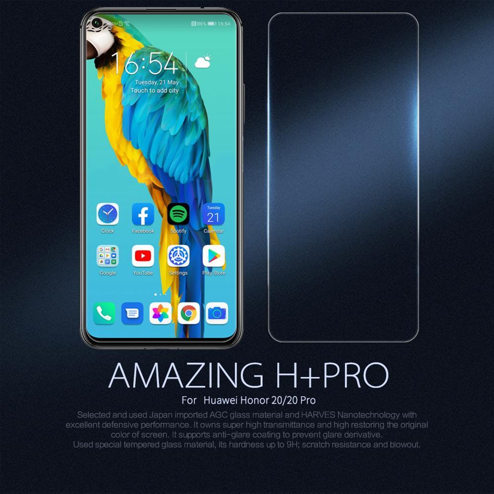 Para Huawei Y6 Pro 2019 Honra 10i 20i 10 20 lite 20 Pro Nova 5t V20 Nova 4 P inteligente 2019 Nillkin H Vidro Temperado Protetor de Tela