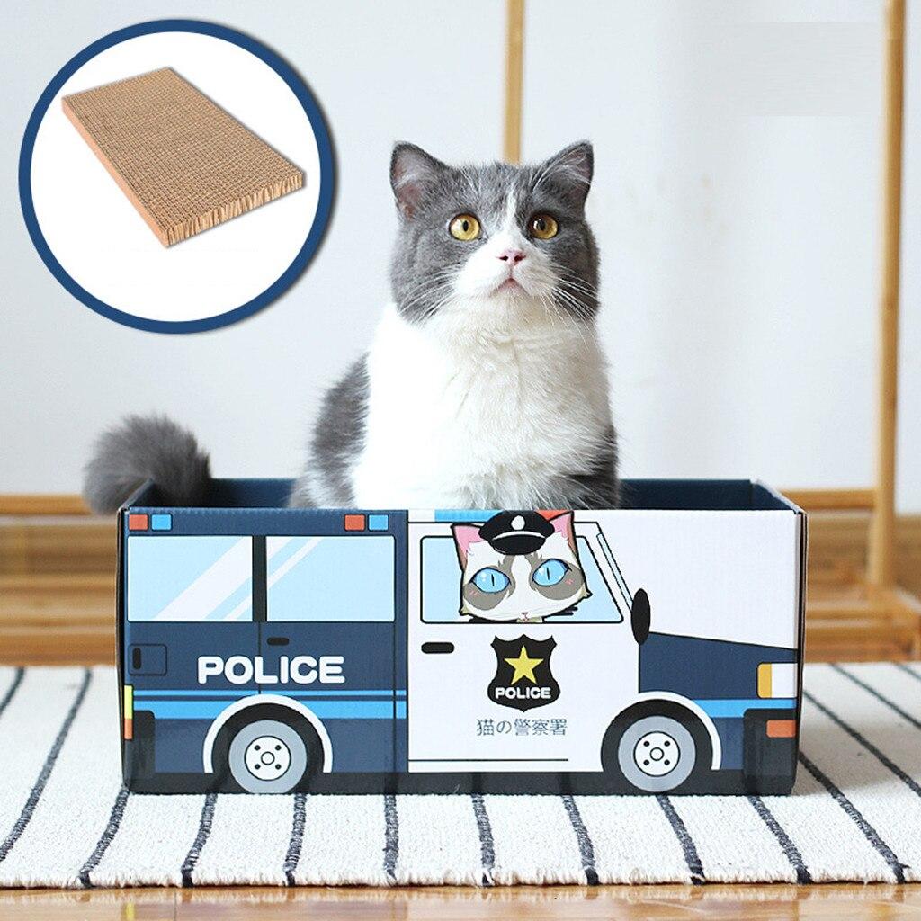 Divertido gato casa gato cama gato rasguño papel corrugado caja de cartón perros resistentes al desgaste tablero sofá cama Casa de cartón