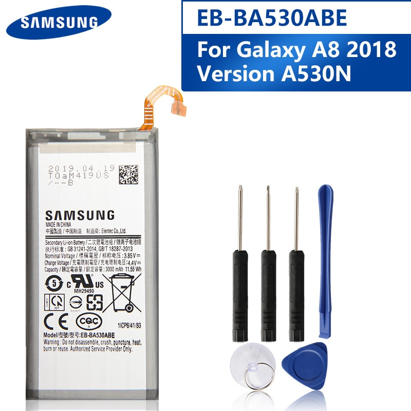 Original Replacement Phone Battery EB-BA530ABE For Samsung Galaxy A8 2018 Version A530N SM-A530N Authentic Battery 3000mAh enlarge