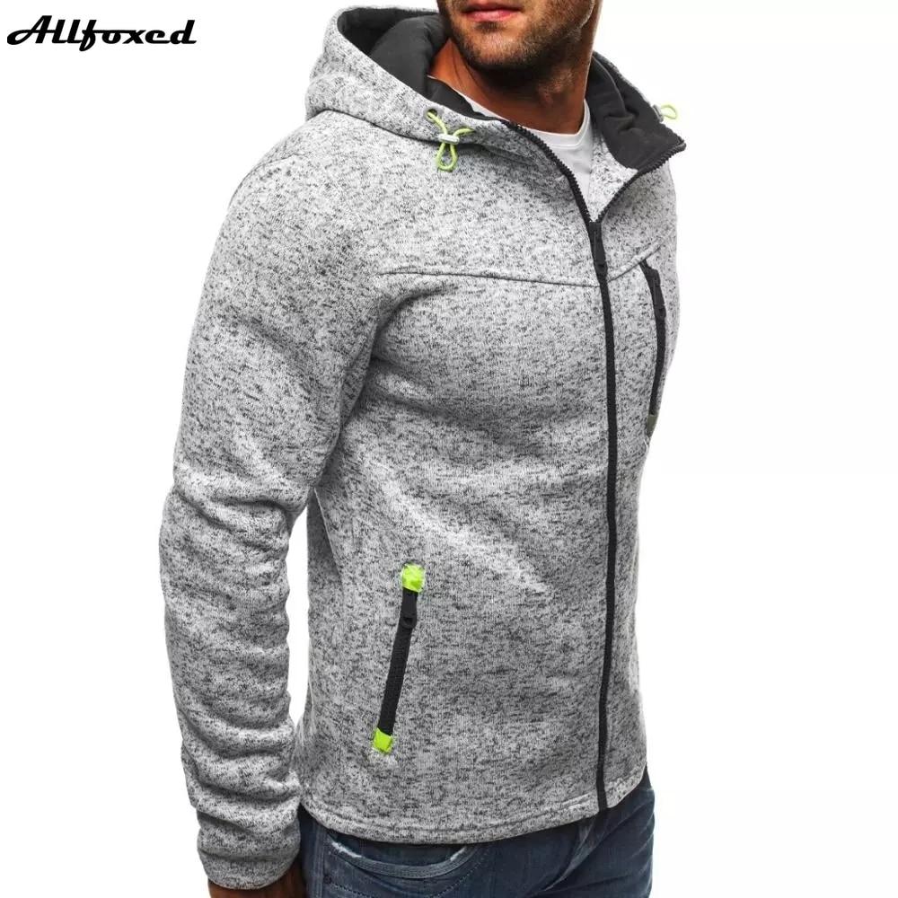 Толстовка мужская с капюшоном, жаккардовая кофта с длинным рукавом, флисовый кардиган, пальто с капюшоном, свитшот, пуловер