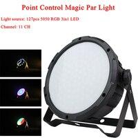 127pcs LED RGB 3IN1 Point Control Magic Par Light Disco Light 11CH Channel DMX512 Bar Lighting DJ Professional Stage Projector