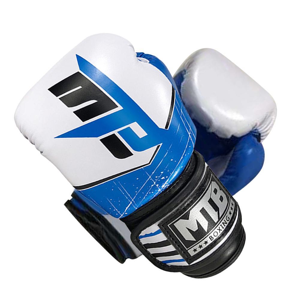 Купить с кэшбэком 4oz 6oz Children Boxing Gloves Thicken Kickboxing Boxing Fighting Training Mittens Kids Wrist Finger Protection