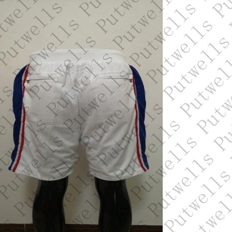 Camiseta blanca corta de baloncesto Filadelfia América para S-XXXL