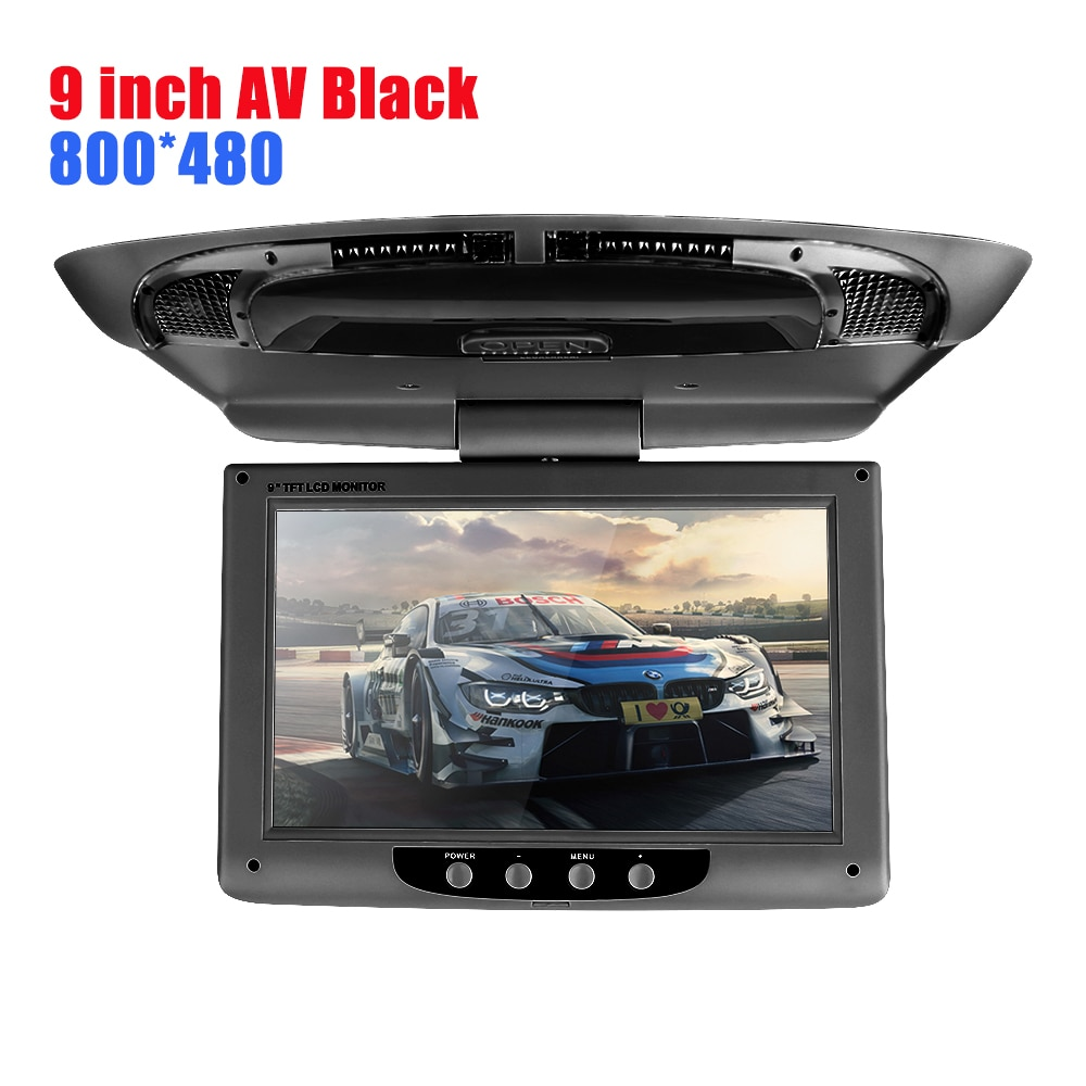 Newest 9 inch HD Radio AV monitor for car radio DVD Player Roof TFT Digital LCD Screen Car Headrest