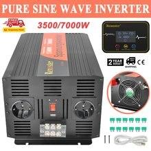 Onduleur à onde sinusoïdale Pure 3500/7000W DC 12V à courant alternatif 220V transformateur à onduleur pur à énergie solaire