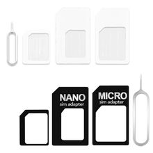 4 in 1 Convert Nano SIM Card to Micro Standard Adapter for iphone for samsung 4G LTE USB Wireless Ro
