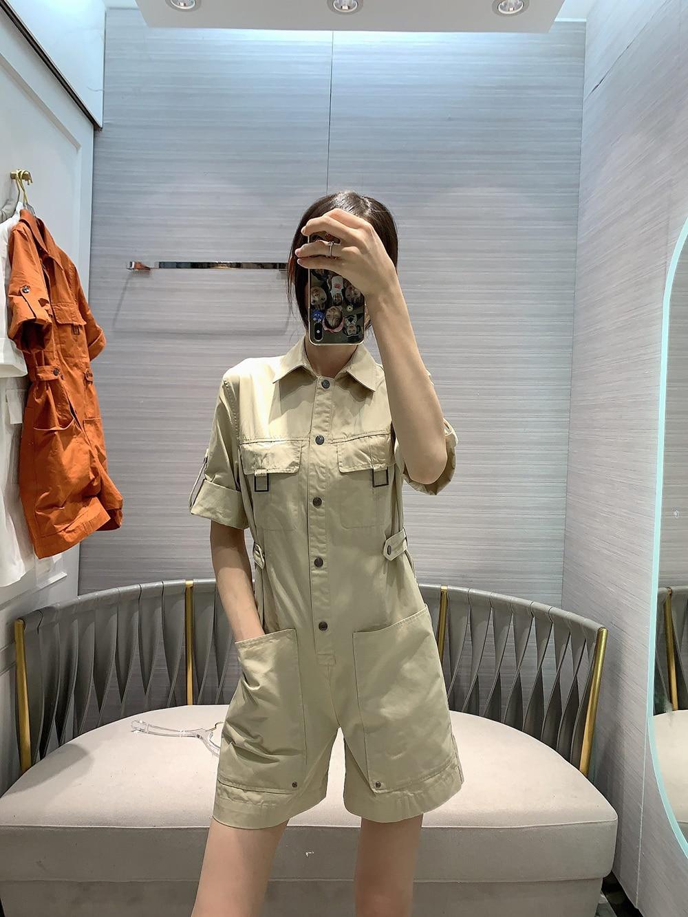2020 летний женский подиумный комбинезон высокого качества, новый красивый комбинезон с короткими рукавами
