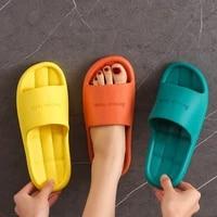 2021 home slippers men women non slip bathroom footwear boys girls unisex flip flops summer house hotel sandals flat shoes