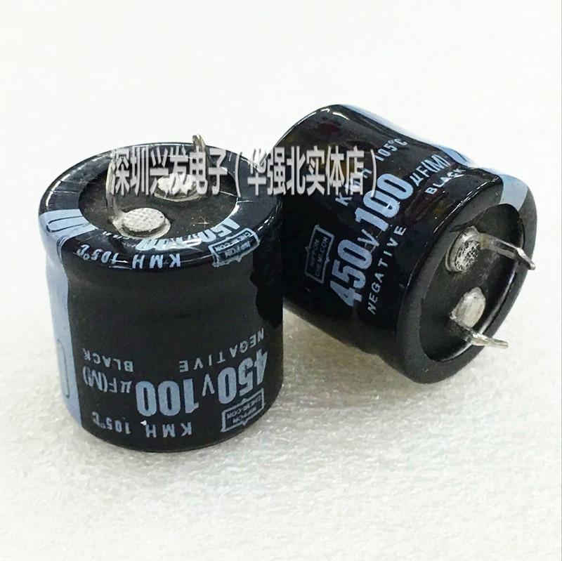 1 pçs/lote 450V100UF 25X25MM 22X30MM DIP Electro capacitor Eletrolítico novo