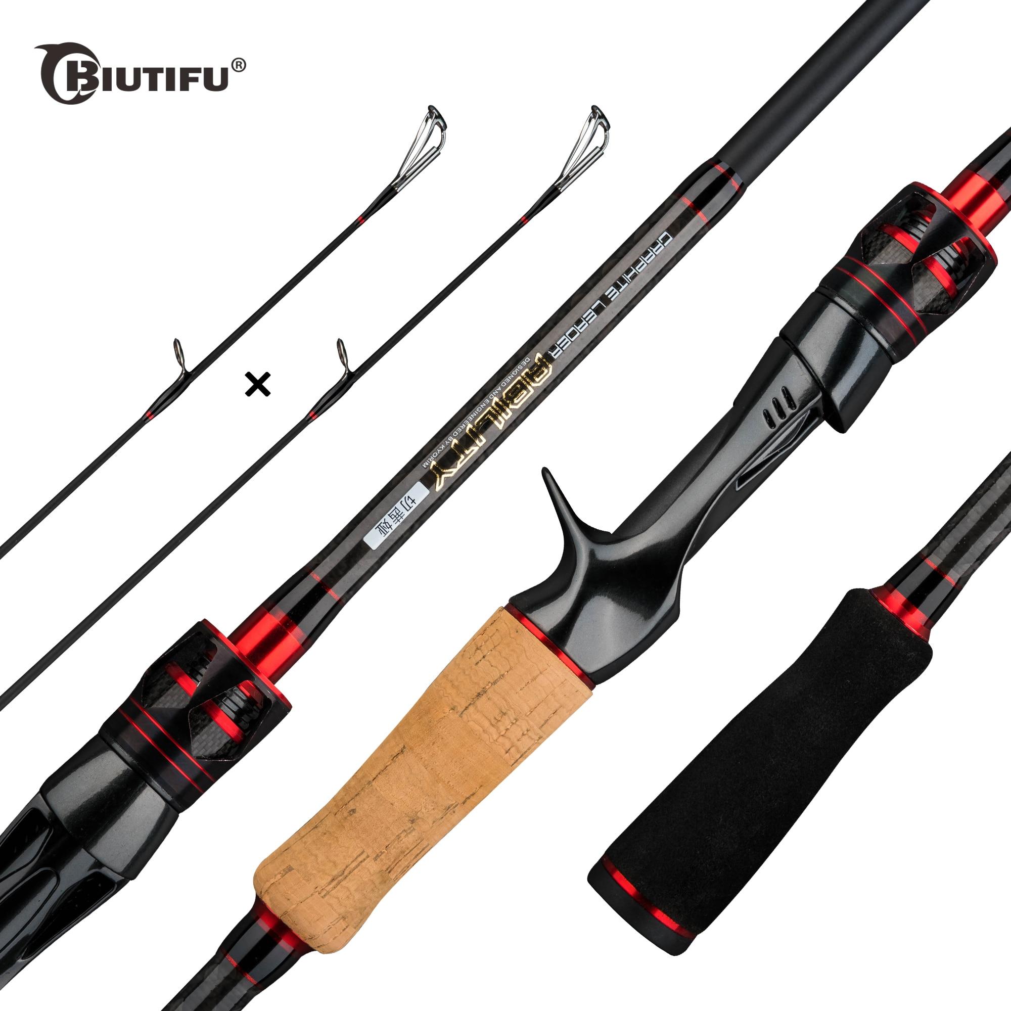 BIUTIFU-صنارة صيد دوارة ، صنارة صيد 1.8/2.1 م T800 كربون ، قسمان 2 ، 4-35 جم ، ML/m/MH