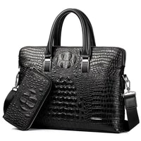 men handbag men business fashion crossbody bag crossbody computer bag cowhide business briescase crocodile print men bag