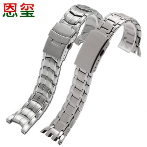 Fine Steel Strap Replacement Casio EF-524D-7A/1A 5051 EF-312 Concave interface Stainless Steel Men's Watch Chain