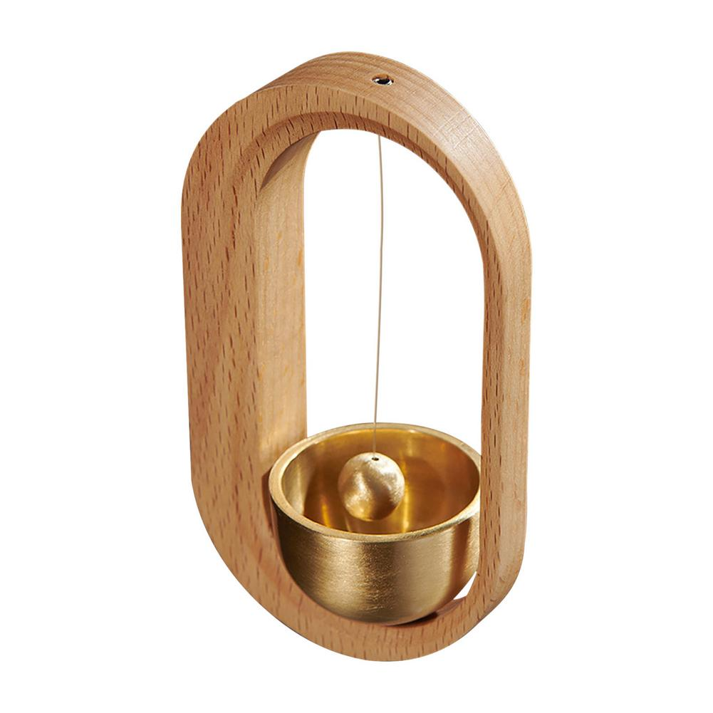 Solid Wooden Wind Chimes Solid Durable Natural Hand-processed And Polished Exquisite Brass Desk Door