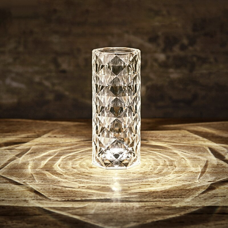 Spain Decoration Christmas Imported Light Luxury Touch European Crystal Table Lamp Living Room Diamond Restaurant Ambient Light