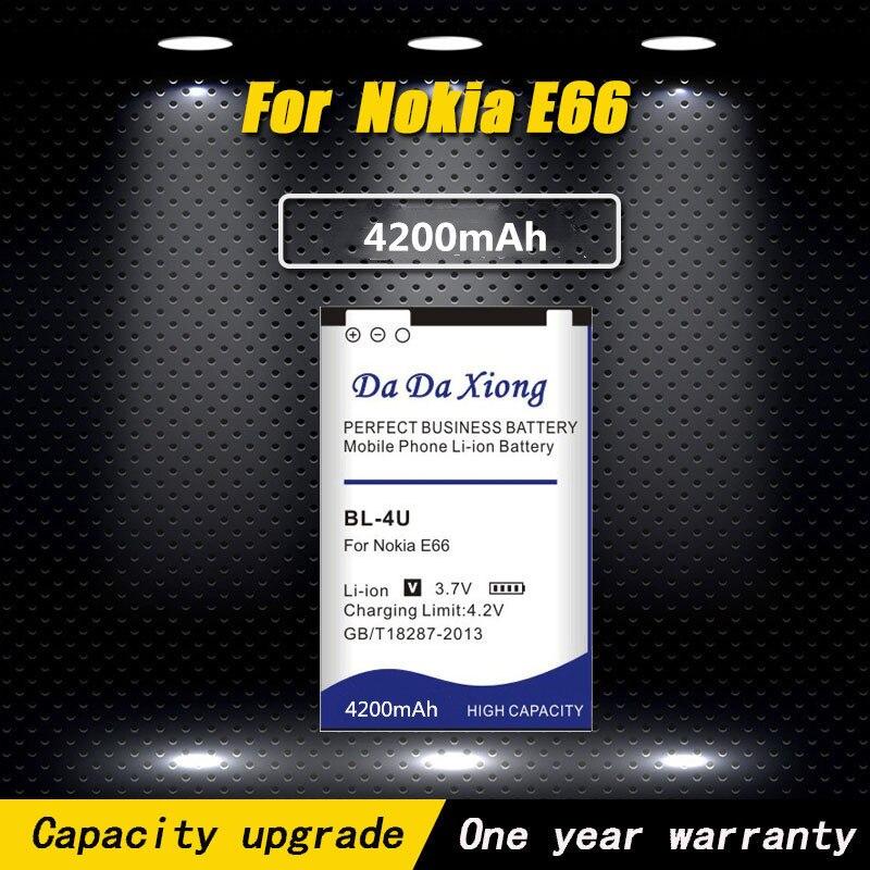Alta calidad 4200mAh BL-4U BL 4U Li-Ion batería del teléfono para Nokia E66 3120C 6212C 8900 de 6600 E75 5730XM 5330XM 8800SA 8800CA teléfono
