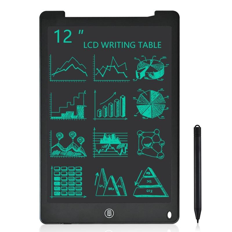 12 بوصة كمبيوتر لوحي LCD بشاشة للكتابة الرسم الإلكتروني خربش مجلس الرقمية الملونة لوحة الكتابة اليدوية هدية للأطفال والكبار حماية العينين