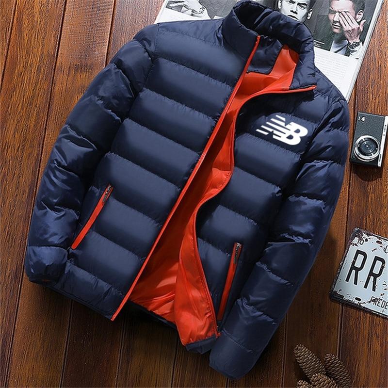 Куртка мужская зимняя, бейсбольная куртка, плотная ветровка на молнии, спортивная куртка для бега, однотонное хлопковое пальто