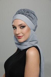 Brocade Horsehair Bonnet Hijab Women