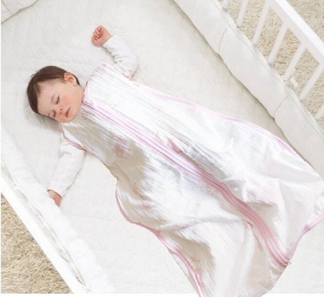 Saco De Dormir De muselina 100% Para bebé, De algodón, fino, Para...