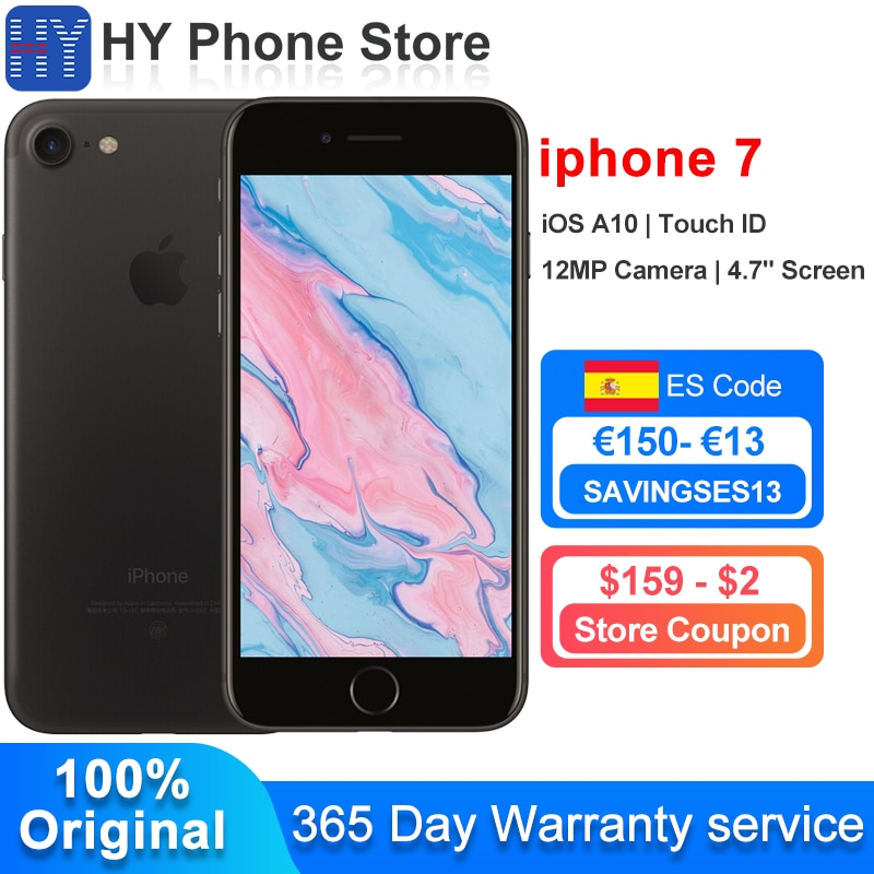 In Stock Apple iPhone 7 Plus / iPhone 7 128GB/32GB ROM Unlocked Smartphone iOS A10 Touch ID 12MP Camera  4.7