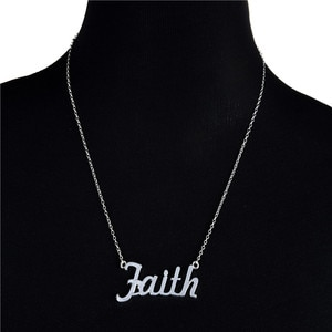 Europe/US fashion Faith Letter pendant lovely English word necklace gift for mom/girlfriend party jewelry