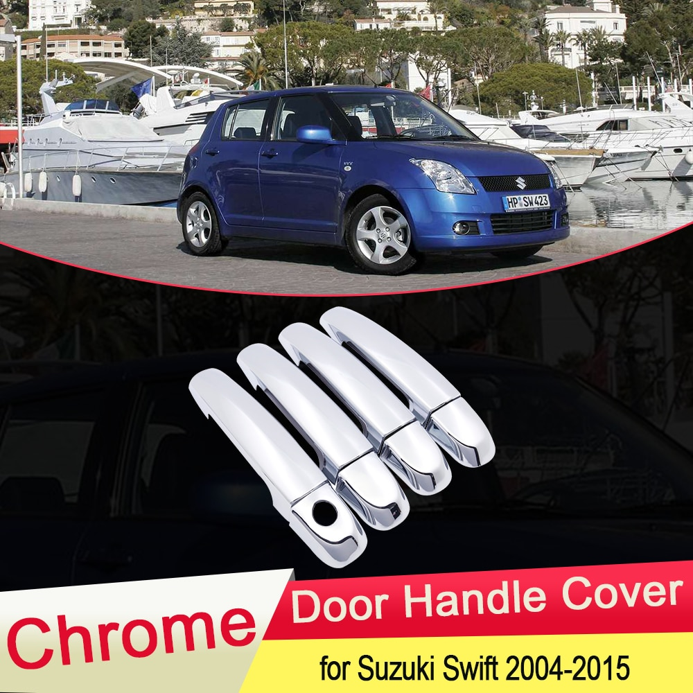 Couvercle de poignée de porte chromé   Pour Suzuki Maruti Swift DZire 2004 ~ 2015 garniture extérieure, arrêt de voiture, accessoires autocollants 2005 2006 2007