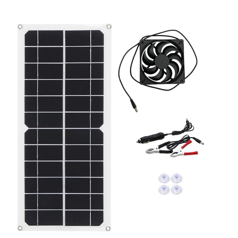 NEW-12V 10 واط المحمولة مروحة العادم الشمسية عدة مروحة العادم مدعوم من لوحة طاقة شمسية ل RV الدفيئة بيت الحيوانات الأليفة قفص الدجاج