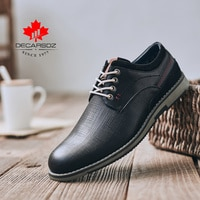 Men Shoes 2021 Autumn Fashion Leisure Walk Footwear Men Lace-up Brand Cowboy Style Brogue Leather Shoes New Men Casual Shoes