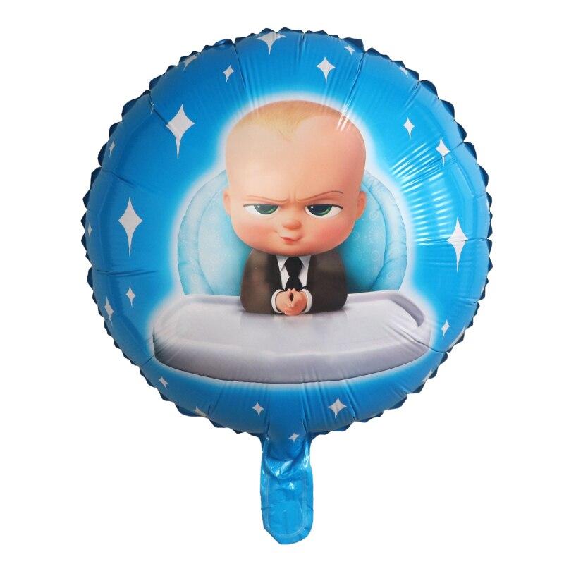50 قطعة 18 بوصة Boss الطفل الألومنيوم بالون الكرتون شعبية الألومنيوم بالونات الاطفال عيد ميلاد لوازم الديكور الاطفال اللعب