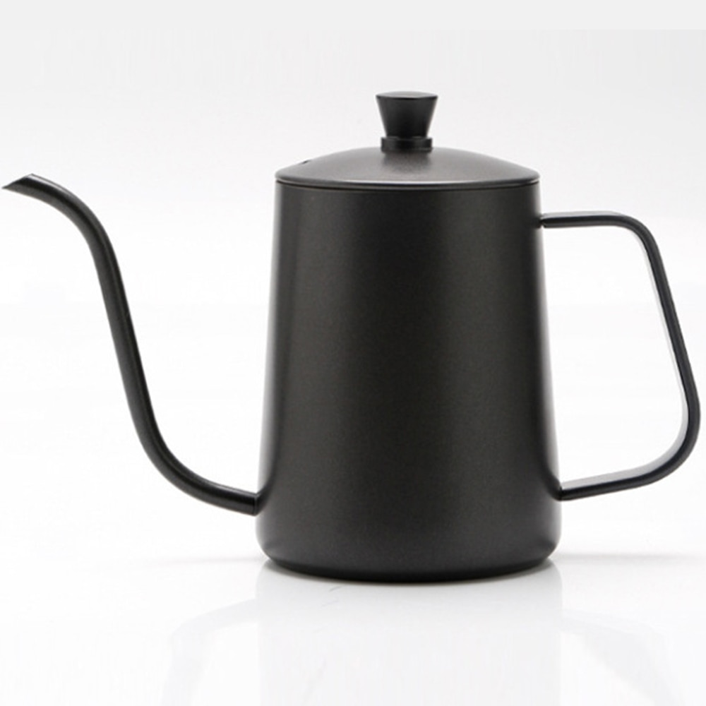 600 مللي إبريق قهوة إبريق الشاي من الفولاذ المقاوم للصدأ سوان الرقبة غلاية قهوة مع غطاء القهوة صانع القهوة اليد لكمة وعاء لوازم المطبخ
