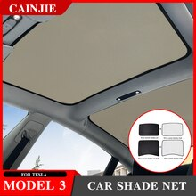For Tesla Model 3 2021 Accessories Car Shade Net Model3 Sunshade Car Sun Visor Roof Skylight Shades