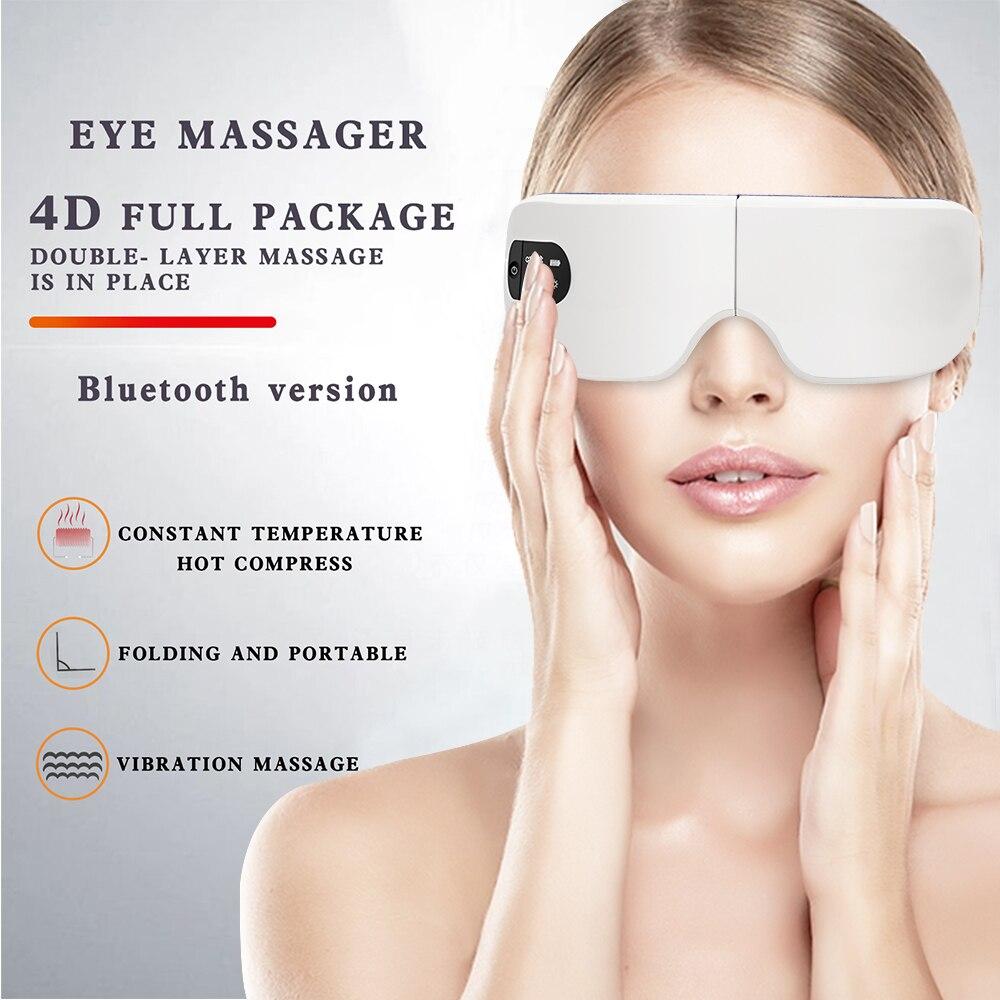 4D الذكية العين مدلك الكهربائية بلوتوث العناية بالعين أداة التدفئة الاهتزاز تدليك الموسيقى تخفيف التعب العين وتحسين النوم