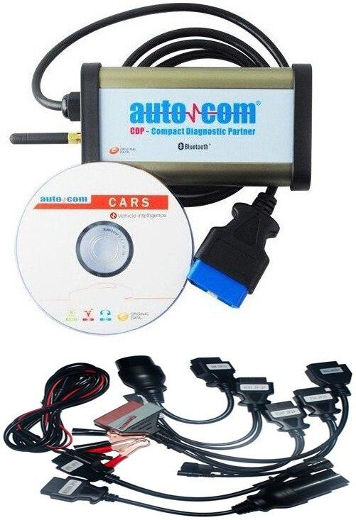 Obd más reciente 2020, escáner para herramienta de diagnóstico autocoms Plus OBD2 con función LED y de vuelo con 8 cables completos para coche, envío gratis