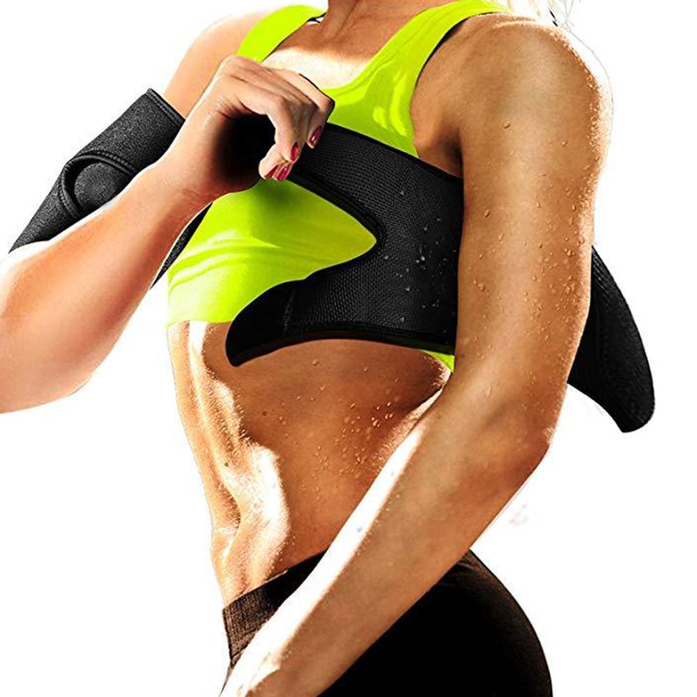Neopreno Sauna Shaper brazo adelgazante Trimmer manga cinturón sudor brazaletes envoltura para adelgazar para Fitness faja para perder peso