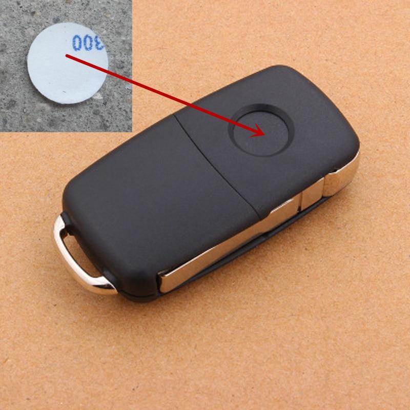 1 шт. 5 шт. 14 мм наклейка на ключ от автомобиля для Volkswagen VW Golf 4 5 6 Polo Passat B5 B6 B7 CC Jetta Mk6 Tiguan Gol Cross Fox Eos Scirocco