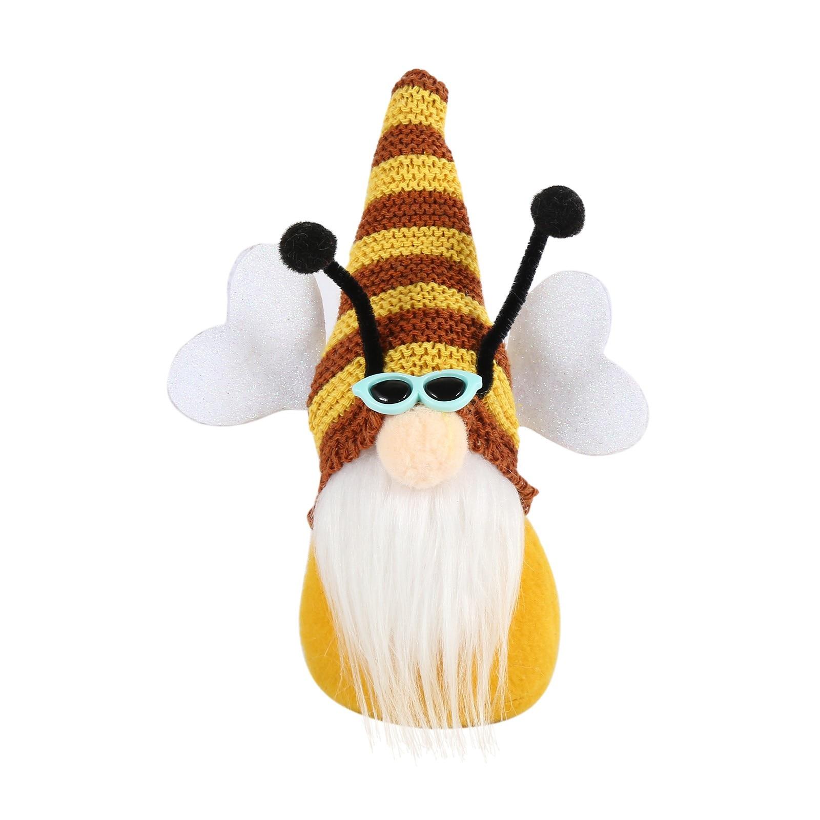 Muñeco de felpa hecho a mano con diseño de abeja, muñeco sin...