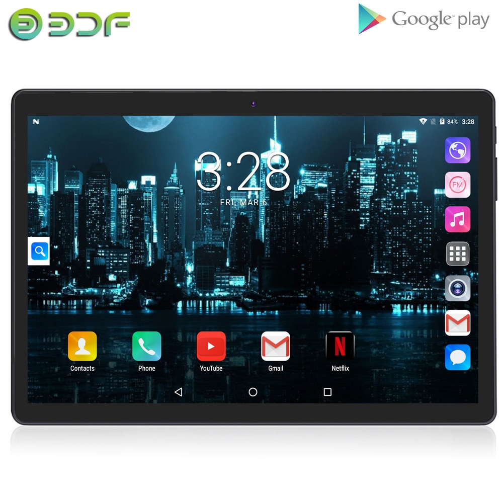 Tableta de 10 pulgadas, pc Android 7,0 Phablet 3G, llamada telefónica con doble tarjeta SIM, 1GB + 32GB, pantalla IPS, Google GPS, WiFi, Bluetooth, LCD, 10 pulgadas, pestaña