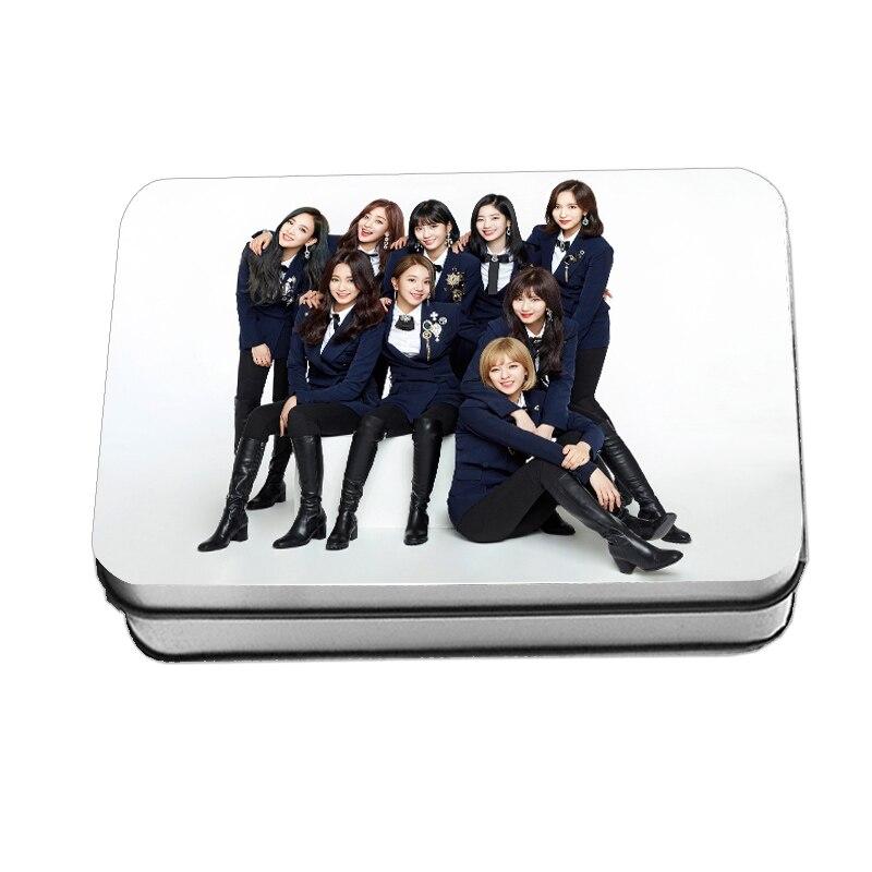 Kpop dos veces  Polaroid foto Lomo tarjeta moda K-POP dos Fans regalos caja de Metal 40 unids/caja Envío Directo