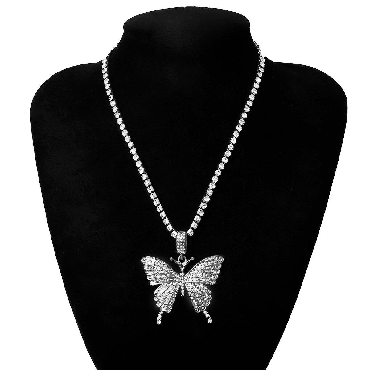 Бабочка-ожерелье-для-женщин-цепочка-чокер-со-стразами-Модные-bling-колье-ожерелья-2020-модное-роскошное-ювелирное-украшение-подарок