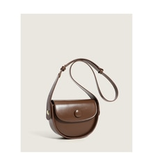 Women Autumn Shoulder Bag Brown Fashion Semicircle Messenger Bag Crossbody Handbag for Women Shoulde