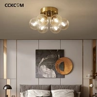 nordic led ceiling lamp glass golden lustre g9 glass chandeliers luxury for bedroom living room kitchen hotel home decor fixture