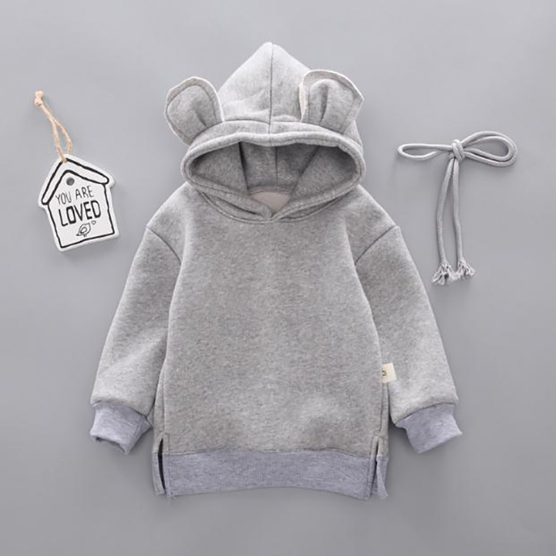 New Baby coat Toddler Kids Boy clothes Hooded Cartoon 3D Ear Hoodie Sweatshirt Winter Girl Warm Tops Clothes 0-3Y spring autumn baby boys girls clothes toddler baby kids hooded cartoon 3d ear hoodie sweatshirt tops clothes infant clothing