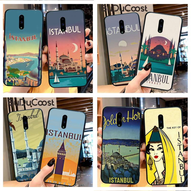 Turkey Istanbul travel poster Phone Case For Redmi Note 8 9 7 7A 6 6A 5 5A 4 4X 4A Go K20 Pro Plus Prime