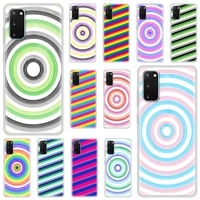 luxury silicone phone case for samsung galaxy s20 fe s10 s9 plus s21 ultra s8 soft matte cover funda color pattern circle logo